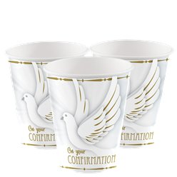 Confirmation Dove Paper Cups - 266ml