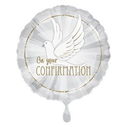 "Confirmation Dove Balloon - 18"" Foil"