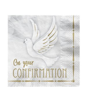 Confirmation Dove Lunch Napkins