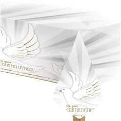 Confirmation Dove Plastic Tablecover - 1.8m x 1.2m