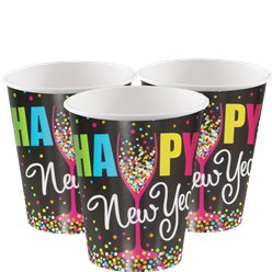 Confetti New Year Cups - 270ml