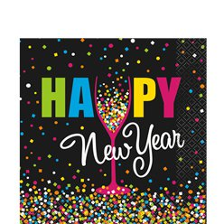 Confetti New Year Luncheon Paper Napkins - 33cm