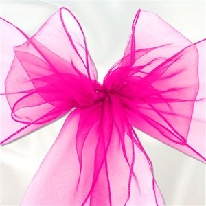 Hot Pink Organza Chair Sashes - 3m