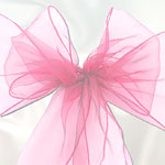 Pale Pink Organza Wedding Chair Sashes - 3m