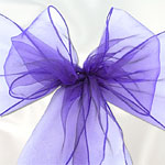 Purple Organza Chair Sashes - 3m