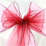Red Organza Chair Sashes - 3m