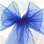 Royal Blue Organza Chair Sashes - 3m