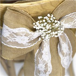 Wedding Hessian & Lace Chair Sash - 2.7m