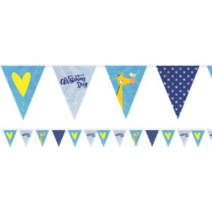 Christening Day Blue Room Decorating Kit - 14 Pieces