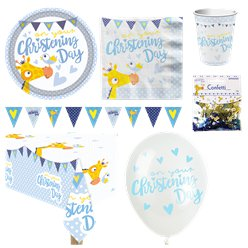 Christening Day Blue Party Pack - Deluxe Pack for 8