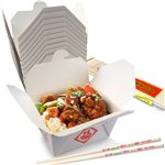 Chinese Party Food Box and Chopsticks