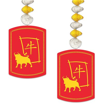 Chinese New Year 2021 Year of the Ox Danglers