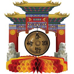 Chinese New Year Gong Centrepiece - 22cm