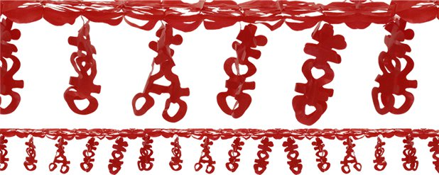 Chinese New Year Plastic Streamer - 1.85m