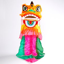 Chinese New Year Lion's Head with Mane - 3.5ft