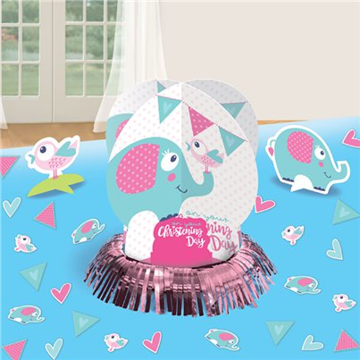 Christening Day Pink Table Centrepiece Kit