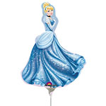 "Cinderella Mini Balloon - 9"" Foil"