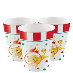 Circus Carnival Party Cups - 266ml Paper Cups