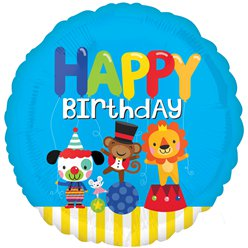 "Circus Happy Birthday Balloon - 18"" Foil"