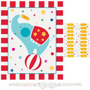 Circus Carnival Party Game - Pin The Peanut Game