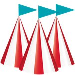 Circus Carnival Party Hats - Cone Paper Hats