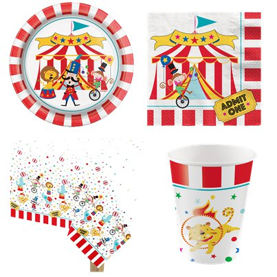 Circus Carnival Party pack - Value Pack for 8
