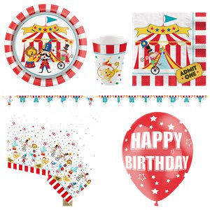 Circus Carnival Party Pack - Deluxe Pack for 8
