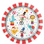 Circus Carnival Party Plates - 23cm Paper Plates