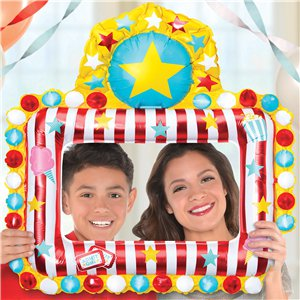 Circus Carnival Inflatable Photo Frame - 66cm x 68cm