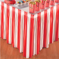 Circus Carnival Table Skirt - 73cm x 426cm Plastic