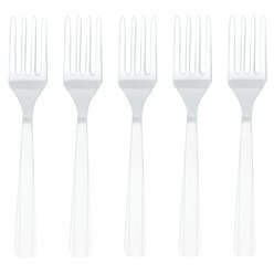 Clear Reusable Forks - 12pk