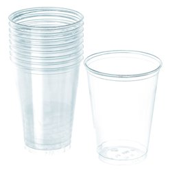 Clear Cups - 355ml Plastic Party Cups