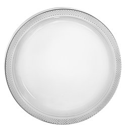 Clear Plastic Plates - 23cm