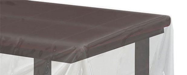 Clear Plastic Tablecover - 1.4m x 2.8m