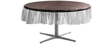 Clear Round Plastic Tablecover - 86cm - 213cm
