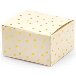 Gold Polka Dot Favour Boxes