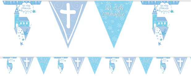 First Holy Communion Blue Foil Bunting