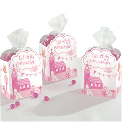 First Holy Communion Pink Favour Boxes