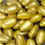 Gold Metallic Sugared Almonds - 1kg - 250 per box