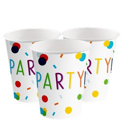 Confetti Birthday Paper Cups - 250ml