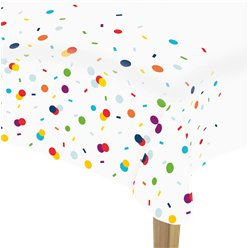 Confetti Birthday Paper Tablecover - 1.15m x 1.75m
