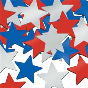 Red, White & Blue Stars Table Confetti - 28g bag