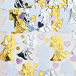 Bride and Groom Gold/Silver Mix Confetti
