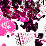 'Mr and Mrs' Hot Pink Table Wedding Confetti