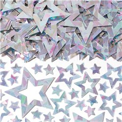 Star Shimmer Silver Table/Invite Confetti