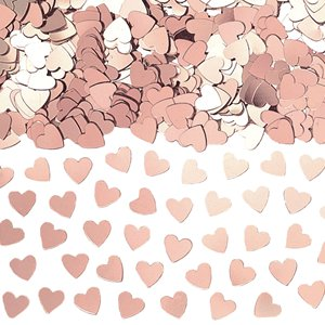 Rose Gold Heart Confetti - 14g