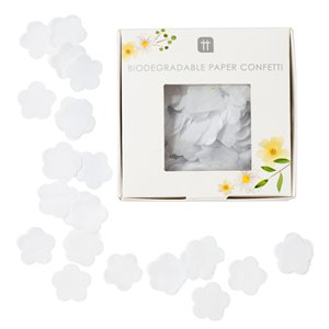 Biodegradable White Flower Tissue Confetti