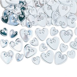 Silver Loving Hearts Table/Invite Confetti - 14g