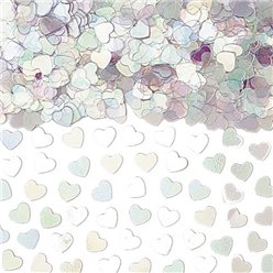 Iridescent Sparkle Hearts Metallic Confetti - 14g