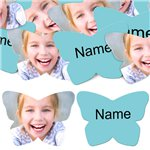 Aqua/Turquoise Butterfly Personalised Confetti